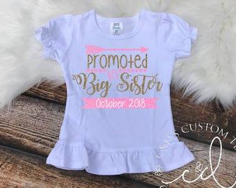Big Sister Shirt - Big Sister To Be Shirt - Sibling Shirt - Promoted To Big Sister Shirt - Big Sister Shirts - Big Sister Tee