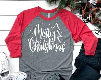 Christmas Shirt.Christmas Shirt Merry And Bright Shirt Christmas Shirts Etsy