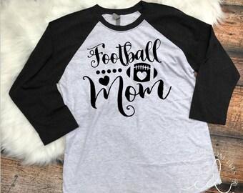 Football Mom Raglan Tee - Football Shirt - Women's Football Tee - Football Yall Shirt - Moms Football Tee - Women's Football Shir