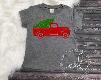 e6fa824e2 Christmas Shirt - Boys Christmas Shirt - Christmas Truck Shirt - Christmas  Tree Truck Shirt - Christmas Tee Shirt - Truck Shirt