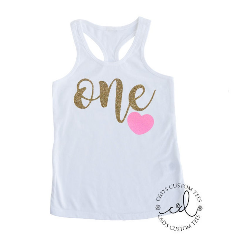 78a28fd28cd5d One Birthday Tank Top First Birthday Tank Top One Sparkle