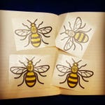 Manchester Bee Decal - Custom Decal - Car Sticker - Window Sticker - transfer graphic laptop notebook skin