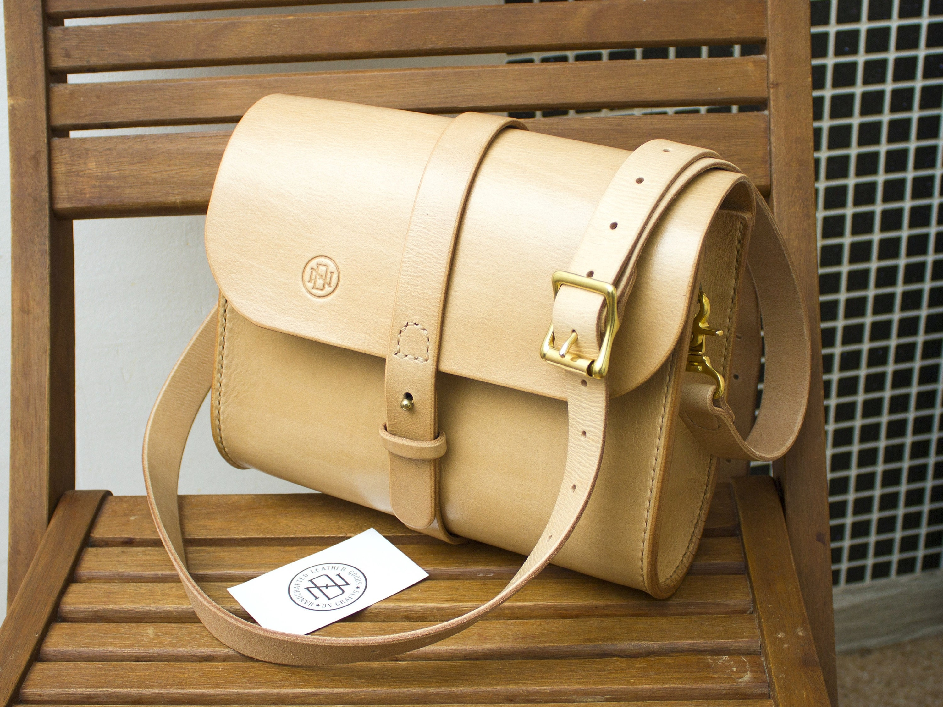 Natural color vegetable tanned woman leather bag Natural  aeadac1641134