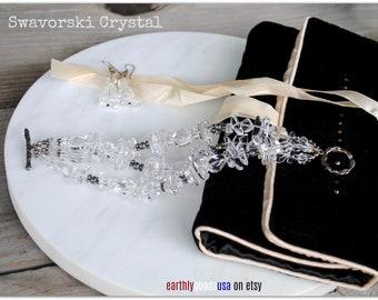 Swarovski Crystal Clear Stunning Bracelet & Earring Set