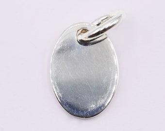SC001 ~ Sterling Silver Heavy Oval Pendant