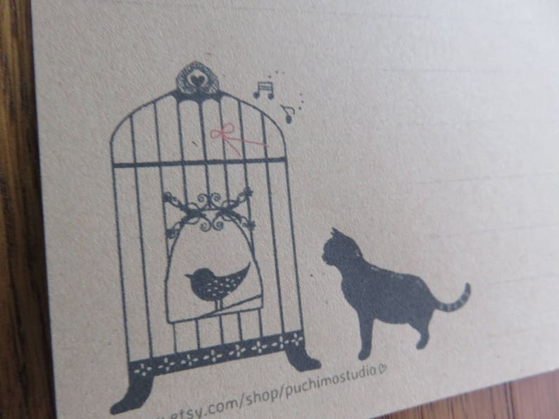 LONG letter  Bird Cage