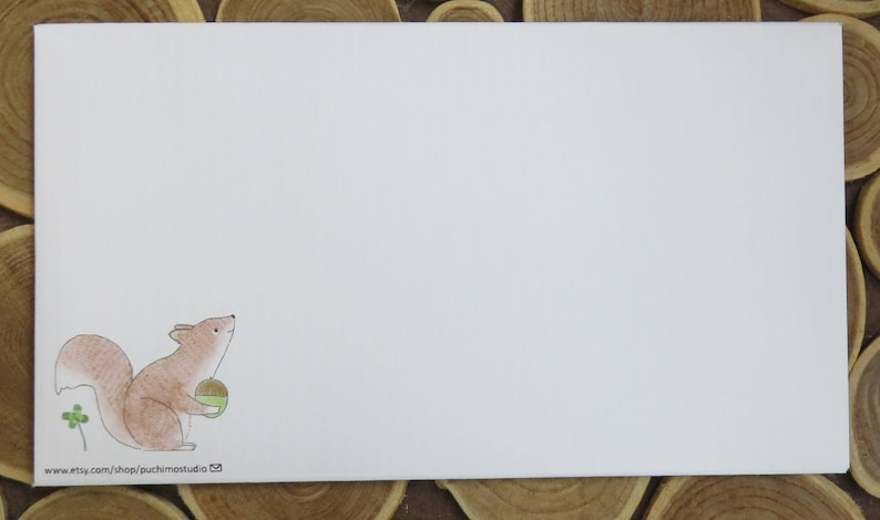 Regular envelope  Squirrels
