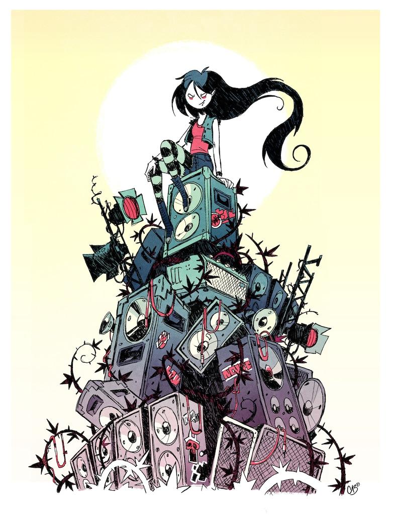 Adventure Time Art Print  Marceline Poster image 0