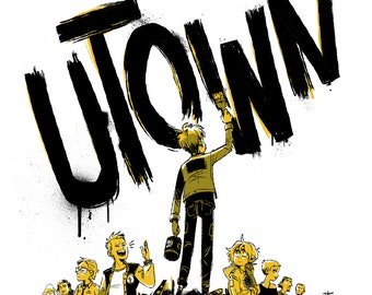 Punk wall art - Utown digital print