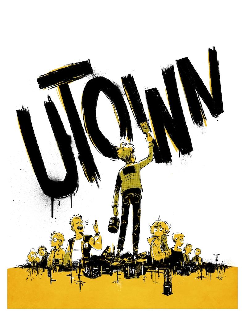Punk wall art  Utown digital print image 0