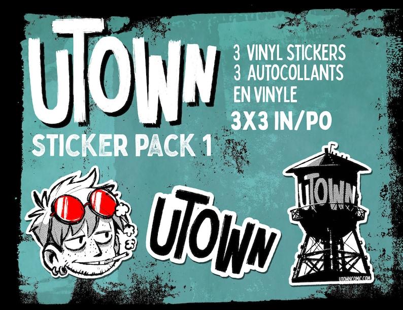 Vinyl Sticker Pack  Utown Assorted Sticker Pack 1 image 0