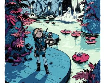 Legend of Zelda Art Print - Link poster