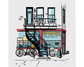 Montreal Print - Urban wall print