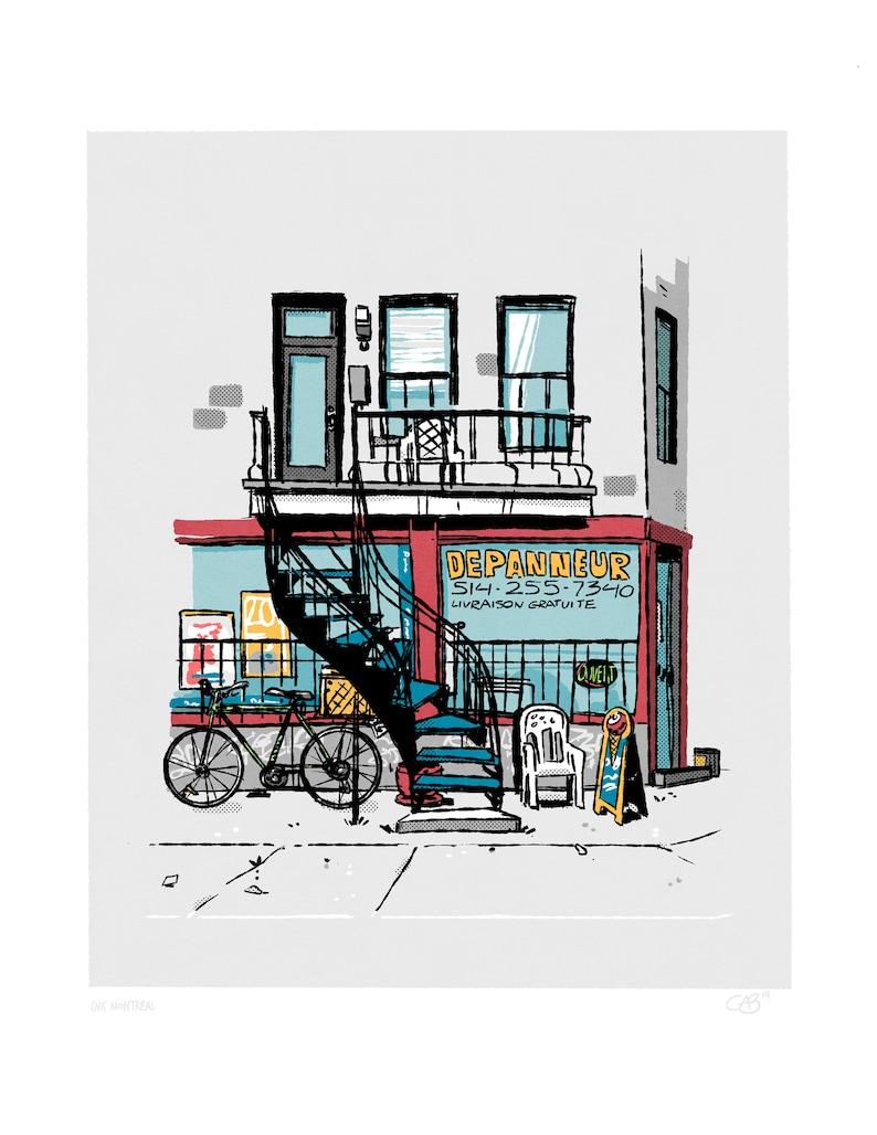 Montreal Print  Urban wall print image 0