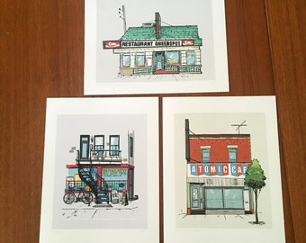 Montreal Digital Print Bundle - Greenspot Depanneur Atomic prints