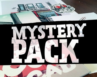 Surprise Package - Art print, sketchbook, surprise box, goodie bag, holiday gift