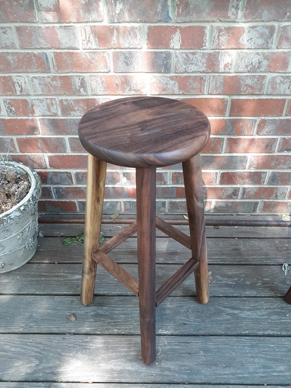 Admirable Wooden Bar Stools Black Walnut Stools 32 Inches 30 Inches 28 Inches Pabps2019 Chair Design Images Pabps2019Com