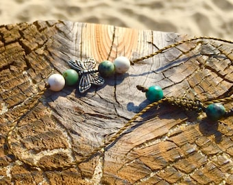Metamorph Transformation  Butterfly String Bracelet