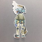 FLCL inspired limited edition art Sticker WEATHERPROOF