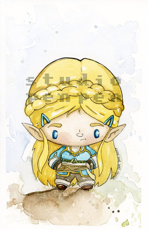 Breath of the Wild Day Zelda Tribute Limited edition print