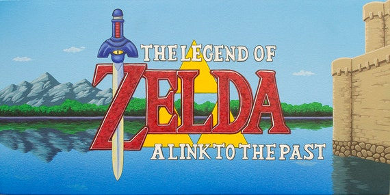 The Legend Of Zelda A Link To The Past Limited Edition Title Etsy