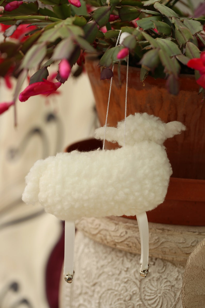 Sheep lovers gift Sheep decor Easter gift Hanging Fabric Sheep decoration Original Sheep Ornament Easter decor