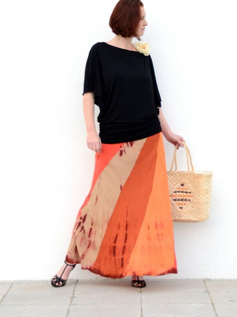 Long Summer Flowing Maxi Skirt
