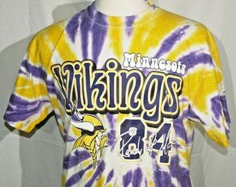 2b31e6bec Rare Vintage 1999 Randy Moss Minnesota Vikings Tie Dye Graphic T-shirt Size  L HOF NFL