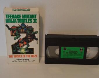 Teenage Mutant Ninja Turtles II The Secret Of The Ooze VHS
