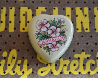 Small Carnation Tin Candle NEVER BEEN USED!