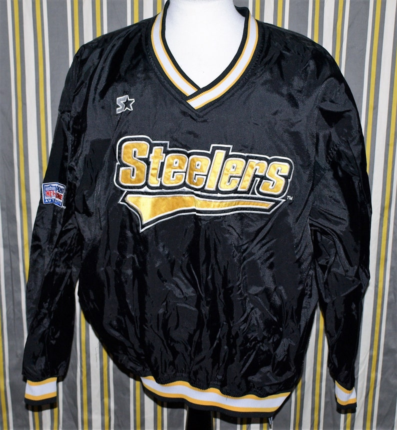 the best attitude e22ff 9cf43 Vintage Pittsburgh Steelers Pro Line Pullover Lined Starter Jacket Size XL