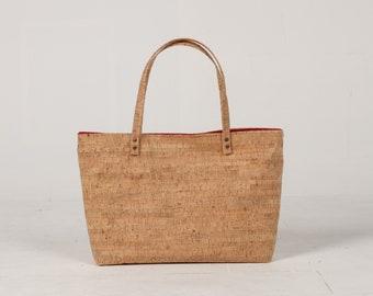 Cork Bag, Cork Bucket Bag, Cork Beach Bag, Casual Tote Bag, Cork Summer bag, Hobo Tote, Cork Tote Bag, Natural Bag, Summer Bag, Weekend Bag