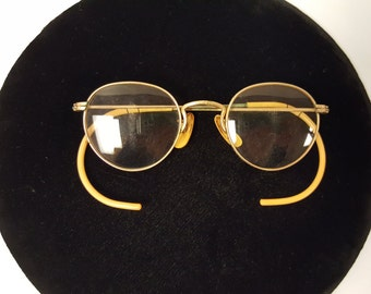 495fa03f4920 Antique Turn of the Century Gold Framed Bifocal Spectacles w original case