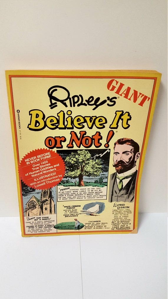 Vintage Giant Ripley S Believe It Or Not 1976 Paperback Etsy