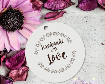 Handmade Tags, Christmas Artisans, Business Tags, Brand Tags, Handmade Labels, Kraft Packaging, Printable Supplies Handcrafted Download