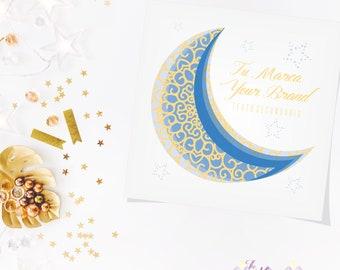 Moon Small Business Logo, Brand, Logo, Company, Unique Logo, Web, Creative Logo, Custom Logo Boutique Etsy Logo, Logo Etsy Shop