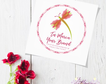 Professional Premade Custom logo, for Etsy Store, for Business, for Branding, Brand Identity, for Company, Wedding Logo with Flowers, Vector
