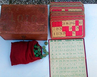 Vintage Lotto game box