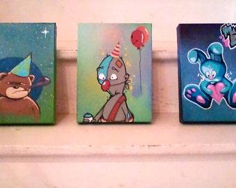 Graffiti paintings for children .