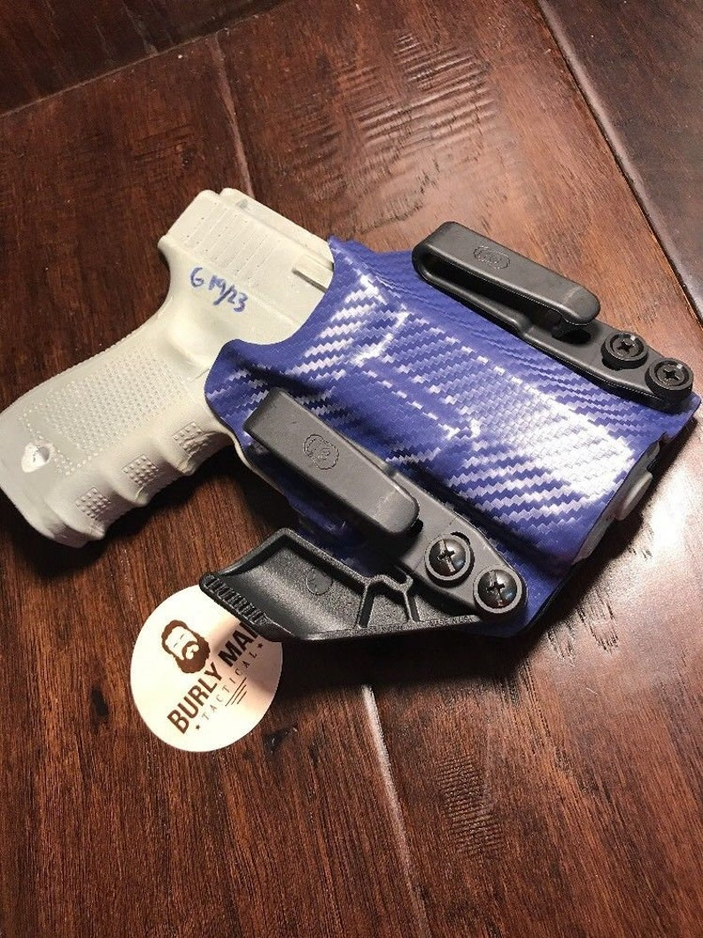 Glock 20 Police Blue Kydex Holster SideCar IWB Appendix Made in the USA by  Burly Man Tactical (Left Handed)