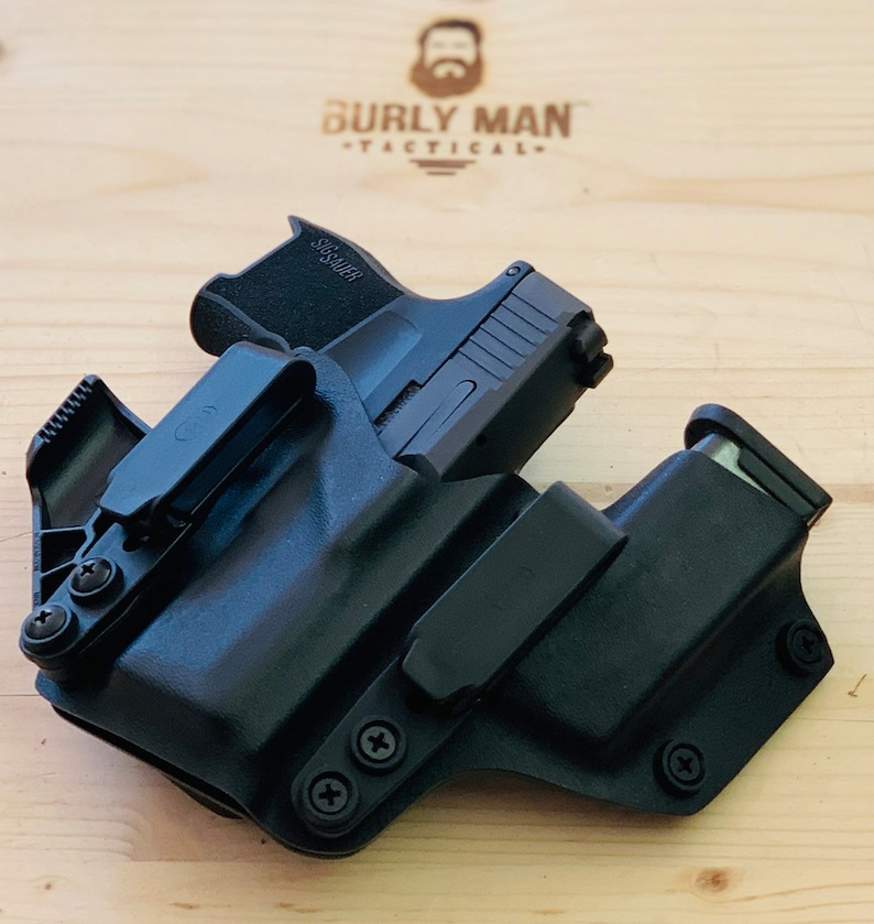 Sig Sauer P365 BLACK aiwb concealment claw Kydex Holster Compact Black IWB  Appendix Made in the USA by Burly Man Tactical