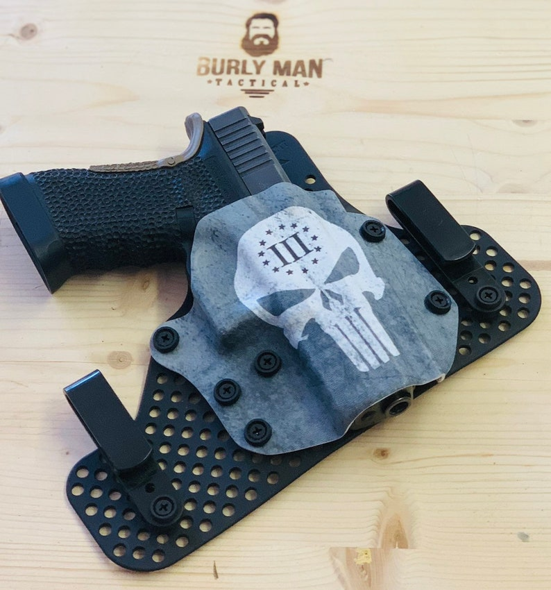 Glock 17 G17 G22 3% Percent Punisher Kydex Holster IWB 4 o'clock carry Made  in the USA by Burly Man Tactical