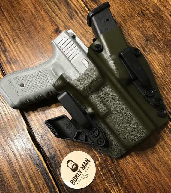 Glock 20 G20 G-20 Kydex Holster OD Green IWB Appendix Made in the USA by  Burly Man Tactical