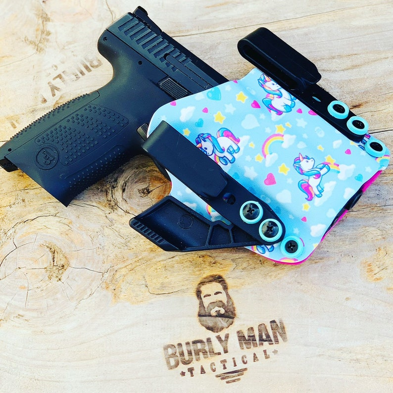 Glock 17 G17 G-17 Unicorn Kydex Holster aiwb IWB Appendix Raven Concealment  Claw Made in USA by Burly Man Tactical