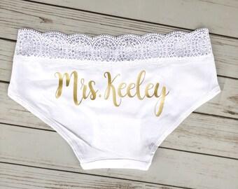 2bc9a84de Personalized Bride Panties - Custom Bride Panties - Bridal Lingerie -  Bachelorette Party Gift - Bachelorette Party - Bride Gift
