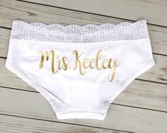 Personalized Bride Panties - Custom Bride Panties - Bridal Lingerie - Bachelorette Party Gift - Bachelorette Party - Bride Gift
