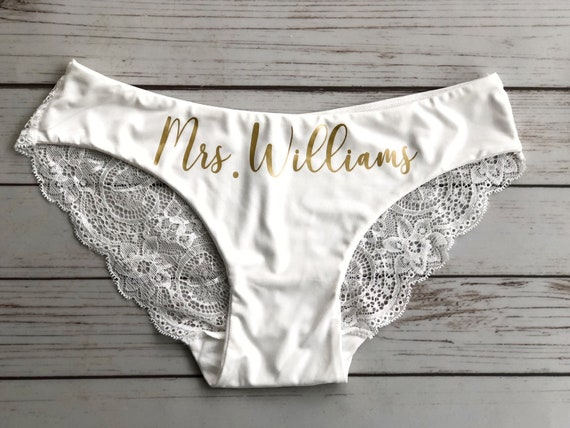 Bride To Be Gift Bridal Underwear. Wedding Clothing CUSTOM Bride Gift Panties Bachelorette Party Gift