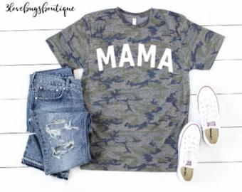 8b6f6b62e29eb Mama camo tee,one blessed mama shirt,mama bears,mama bear t shirt,#momlife  camouflage shirt, mama shirt, mom tee, camo mama shirt