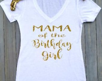 Mama Of The Birthday Girl Shirt Celebration Mom