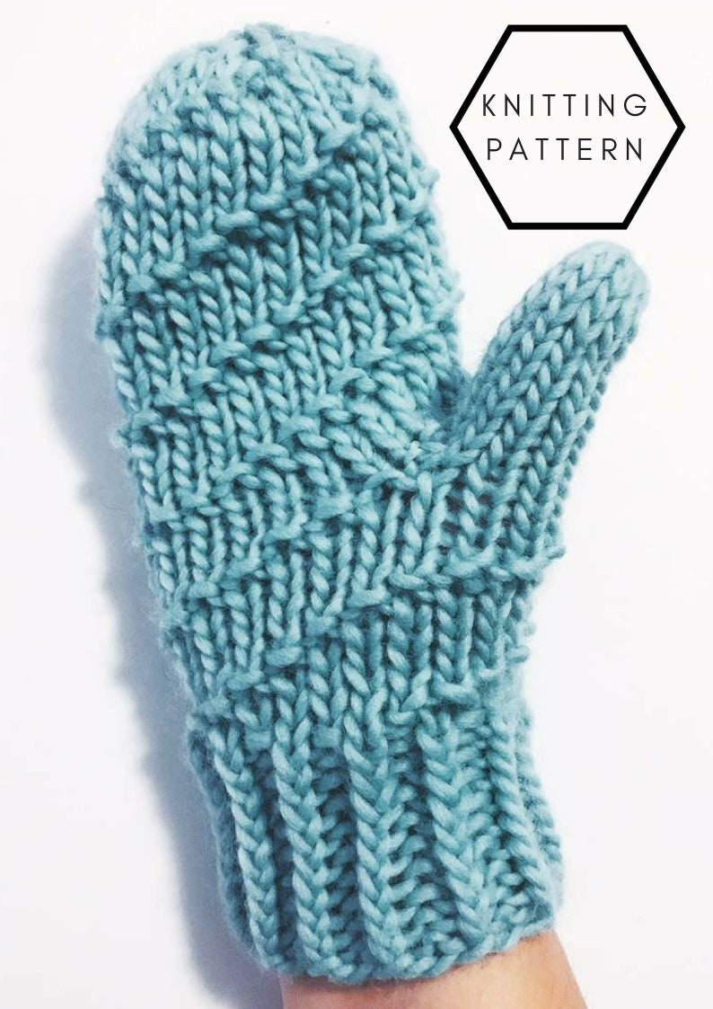 THE HELIX MITTENS Womens Mitten Pattern Knitting Pattern image 0